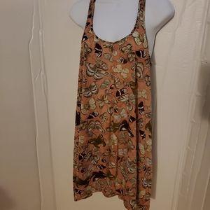 H&M butterfly t-strap swing dress